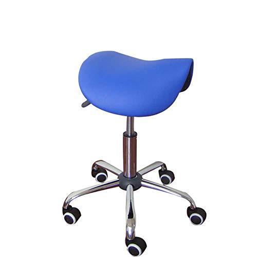 WangXN werkstoel massagestoel met kruk voor schoonheidssalon, keuken, spa, hydraulisch, verstelbaar, met wielen