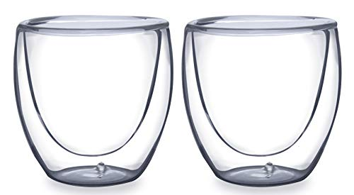 Dupla de Copos para Café Parede Dupla Boros Silicato Mimo Style Transparente