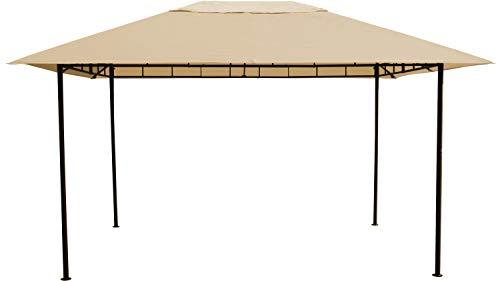 Grasekamp Qualität seit 1972 Amalfi Flex - Cenador de 3 x 4 m, metal, color beige