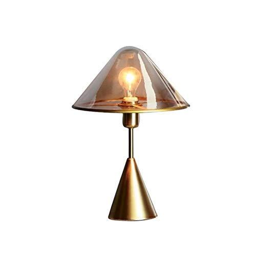 DHTOMC Nordic Kreative Kunst Nachttischlampe Schlafzimmer Leichtbau Designer Modell Room Home Software Designer Tischlampe Glas-Tischlampe (Farbe: Transparent) Xping (Color : Brown)