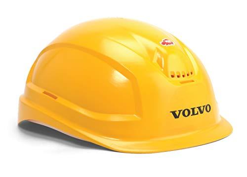 Dickie Toys Volvo Baustellen Spielset, Set mit Volvo Baufahrzeuge, Kipplaster, Bagger, Schaufel/Rechen mit Sieb, Helm, Baustelle, Sandkasten, Baufahrzeuge, Bagger, Muldenkipper, 26 cm, ab 3 Jahren