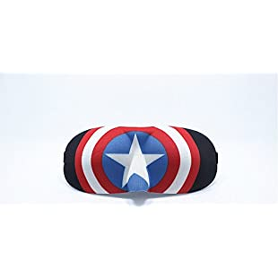 3D Super Hero Sleep Masks -Coolest Eye Masks - Most Comfortable Sleeping Mask (Captain America1)