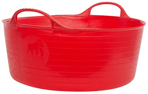 Red Gorilla Tubtrug Flexible Mini Flach Rot, Clear, Unisex