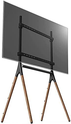 Soporte de TV mejorado Soporte de piso de TV Soporte de arte de madera creativo Soporte de TV móvil para televisores de 49 'a 70' Base de madera resistente Soportes de TV altos y universales con S