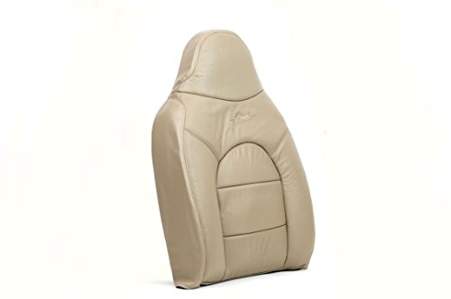 Us Auto Upholstery compatible with 2000 Ford F250 Lariat -Driver Side Lean Back Replacement Leather Seat Cover TAN- -  American Auto Seats, 9900FOF250LADRSILEBATAN05