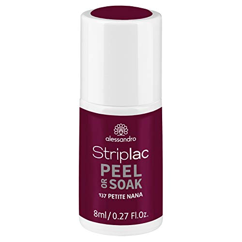 alessandro Striplac Peel or Soak Petite Nana – LED-Nagellack in Lila – Für perfekte Nägel in 15 Minuten – 1 x 8ml