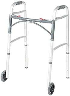 Front Wheeled Walker Folding Deluxe with 2 Button and 5