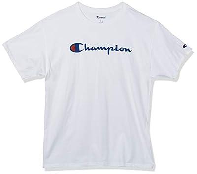 Champion Men's Classic Jersey Script T-Shirt, Navy2, Large