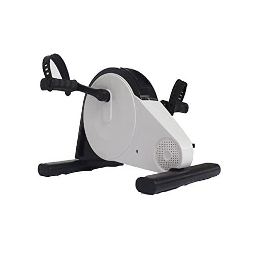 BLLXMX Bicicleta eléctrica Debajo del Escritorio Pedal ejercitador Entrenador Ajustable Brazo Pierna Ejercicio Vendedor Ambulante Pedal de Escritorio Bicicleta para piernas y Brazos Fisioterapia