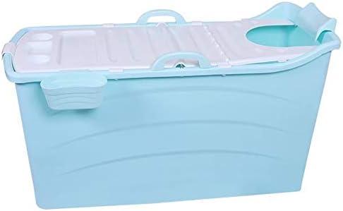 Color : Blue, Size : 120x52x68CM A LINLINZ Pliable Baignoire avec Isolation Couverture Thermique Poign/ée D/étachable Et Extra Long Tuyau De Drainage pour Adulte Les Enfants B/éb/é Bambin N