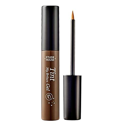 ETUDE HOUSE Tint My Brows Gel NEW #1 (Brown) | Long-Lasting Eyebrow Tint with Care Ingredients | Natural and Elegant Brow Color | Makeup | Kbeauty
