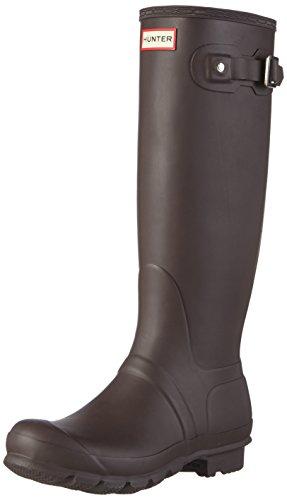 Hunter Original - Botas de agua de caña alta unisex, color marrón, talla 39