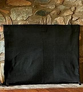 Plow & Hearth Large Pavenex Fireplace Blanket Stops Overnight Heat Loss, in Black
