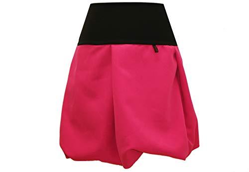 dunkle design dunkle design Damen Ballonrock Grau meliert oder Grün , Blau ,Camel , Rosa , Türkis , Weinrot , Pink nach Wahl (M 40/42, Pink)