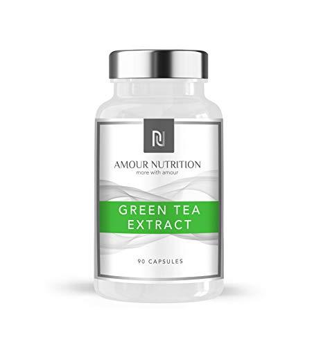 Green Tea Extract 850mg 90 Capsules, Antioxidant, Vegetarian Capsule, Suitable for Men & Women, UK Made