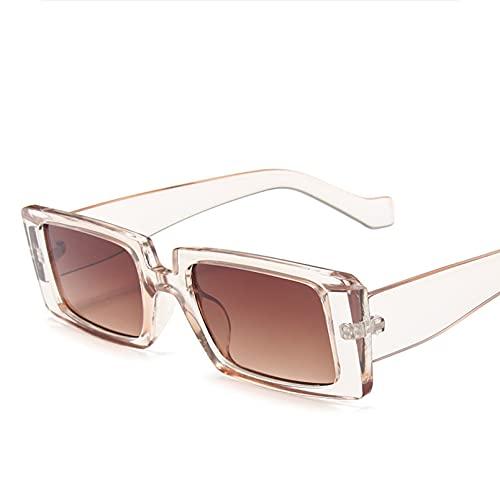 DAIDAICDK Gafas de Sol cuadradas para Mujer Gafas de Sol con Forma de Ojo de Gato Unisex con Montura Grande UV400 Gafas de Viaje al Aire Libre