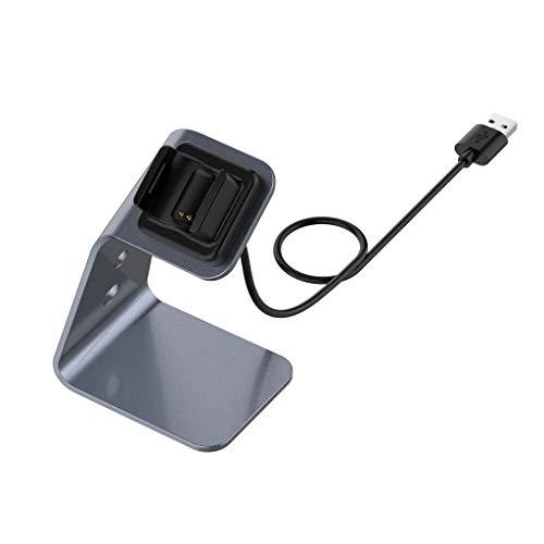 Sweo Cable cargador de reloj, cable de carga USB de metal para Fitbit Charge 4 3 SE