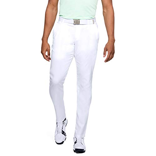 Under Armour - Pantaloni da Uomo Showdown Taper, Uomo, Pantaloni, 1309546, Bianco, 34W / 38L