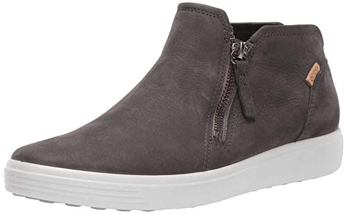 ECCO womens Soft 7 Low Bootie Ankle Boot, Dark Shadow Nubuck, 8-8.5 US