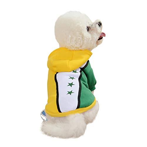 Yowablo Haustier Hund Welpe Katze Stickerei Winter Warme Strickjacke Kostüm Mantel Bekleidung (XS,11- Gelb)