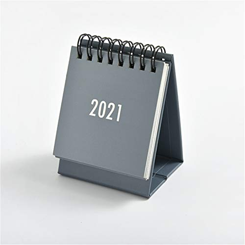 hgkl Calendario 2021 2021 Minimalista Calendario de Escritorio Dual Horario Horario Planificador Anual Agenda Organizador (Color : 2021 Grey)