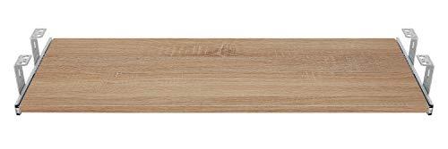 FIX&EASY Guide scorrevoli con ripiano 800X400mm texture dekoro legno quercia sonoma per porta-tastiera cassetto, staffa per binario scorrevole zincato 400mm, estraibili per tastiera mouse e laptop