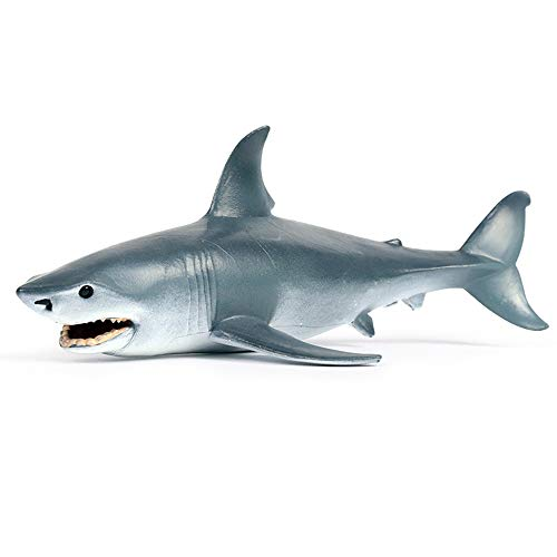 Sea Animal Shark Toy Realistic Ocean Animal Figurine Plastic Sea Creature Shark Figure for Cake Topper Party Supplies Bath Toy