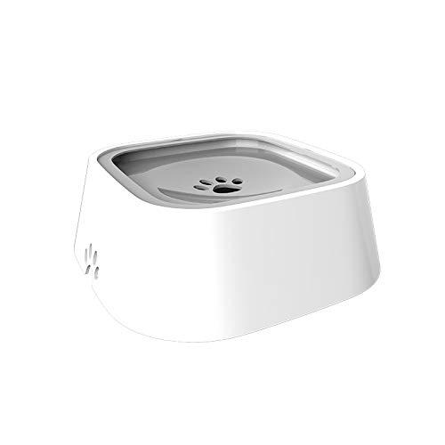 ZTT 5L Floating Pet Water Bowl, No Perdite No Cospargere Bowl Mantenere I Capelli Secchi per Gli Animali Cane di Acqua Ciotola No Splash Anti-Capovolto Alimentatore di Grande capacità,Grigio