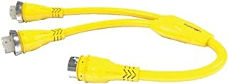 Furrion 381717 Yellow Connector (x2) to 50A (125V) Plug Y-Adapter