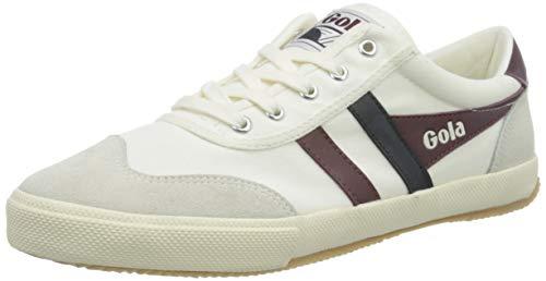 Gola Herren Badminton Sneaker, Off White Burgunderrot Navy, 44 EU