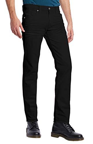 ETHANOL jean de jean con movimiento elástico para hombre con entrepierna corta y alta -  Negro -  34W x 32L