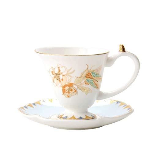 Hbao Taza De Café De Porcelana De Hueso Tazas De Té De La Tarde De Oficina Creativa Juego De Taza Y Platillo De Porcelana Nórdica