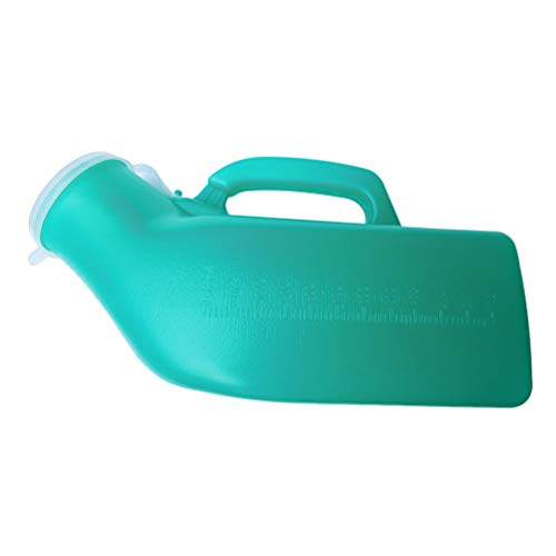 Healifty - Botella de orina portátil para hombre, 1200 ml, 2 unidades (verde)