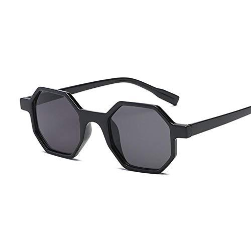 Octagon Shaped Square Sonnenbrille Frauen Männer Brillen Sonnenbrille Spiegel Schwarz Sonnenbrille Weiblich Schwarz