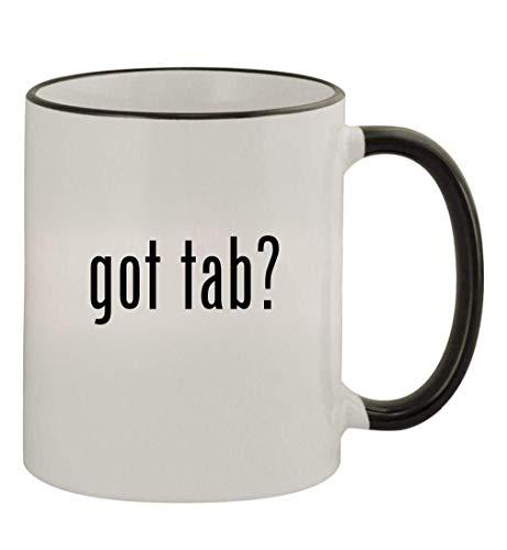 got tab? - 11oz Colored Handle and Rim Coffee Mug, Black