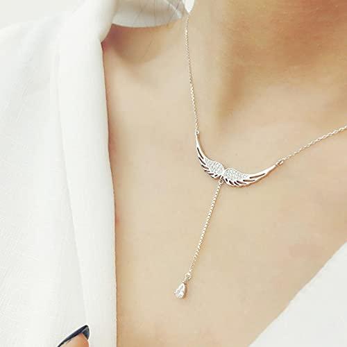 YANXIA Pendientes de Aro para Mujer Collares de Alas Simples y Elegantes Colgantes para Mujer Collar de Decoración de Verano