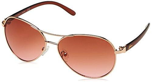 Guess Guf235, Gafas de Sol para Mujer, Dorado (Oro Rosa), 61