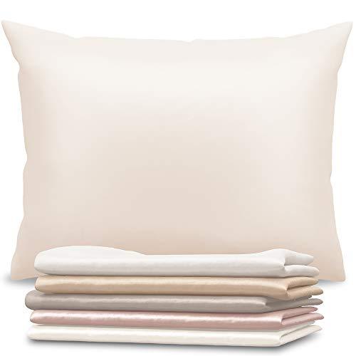 Dreamzie - Seidenkissenbezug 50 x 75 cm - 100% Maulbeerseide 19 Momme Doppelseitig Oeko-TEX® - Silk Pillowcase für Haar und Haut - Anti-Aging, Anti-Bettwanzen - Elfenbein