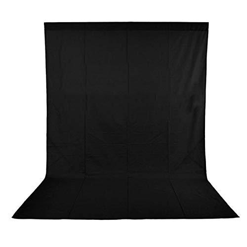 Andoer Sfondo Pieghevole 5 x 10FT Photografia Studio non-Tessuto del Contesto Sfondo dello Schermo per Studio Fotografico, Video e Televisione (nero)