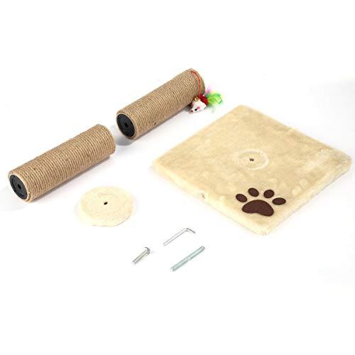 FHJZXDGHNXFGH-DE M14 Haustier Kratzbaum Klettergerüst Spielzeug mit Fisch Glocke Spielzeug Katzenkratzbäume Katzenkratzbrett Springen Training Spielzeug Möbel