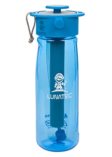 Lunatec Aquabot sport water bottle - a pressurized mister, camp shower and hydration in one. BPA...