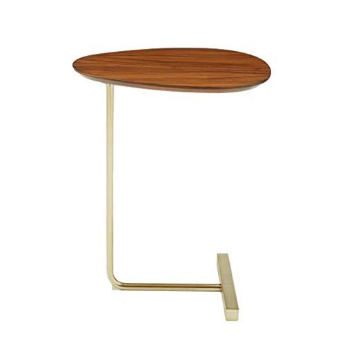 Tavolino da Salotto Moderno Nordico Tavolino Rotondo in Legno Tavolino a soppalco a Forma di C Tavolino da Snack Comodino Soggiorno Mobili Camera da Letto