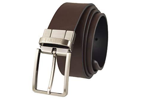 Zerimar Cinturón Piel de Hombre | Cinturón reversible | 3,5 cm Ancho | Cinturón Hombre Cuero | Cinturón Hombre Hebilla