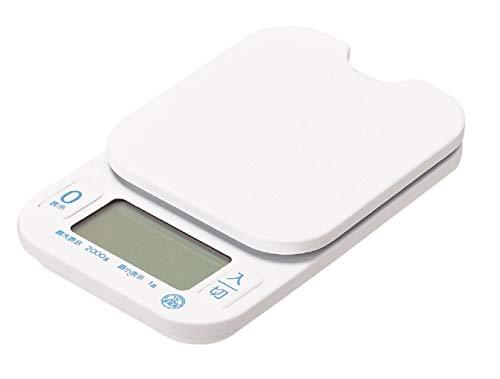 パール金属 デジタルキッチンスケール2.0kg用 量HAKARI D-6466 ホワイト