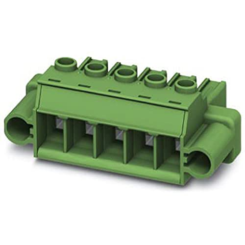 PHOENIX CONTACT PC 5/2-STF1-7,62 BK - Enchufe para placa de circuito impreso (6 mm², sección transversal nominal de 2 pines, PC 5/.-STF1, 7,62 mm, 50 unidades), color negro