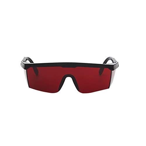 ASFD Gafas de Seguridad con protección láser Gafas de PC Soldadura Gafas con láser Gafas Protectoras para los Ojos Gafas Unisex con Montura Negra a Prueba de luz (Rojo)