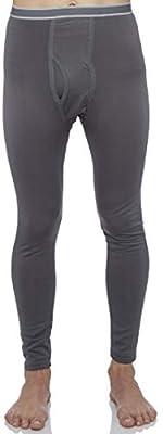 Rocky Men's Fleece Lined Thermal Bottoms Long Underwear Baselayer Pants Legging Charcoal Grey