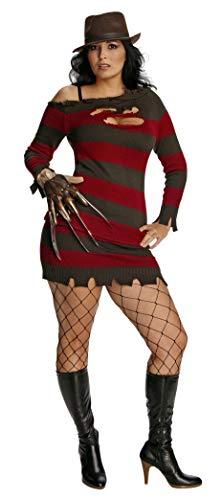 Rubie 's Offizielle Miss Freddy Krueger Kostüm Sexy Secret Wishes Damen Groß–Nightmare On Elm Street