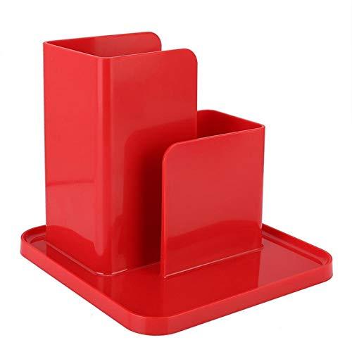 Mothinessto Organizador de Almacenamiento de Escritorio ABS práctico para la Sala de Estudio de Ofifice(Rojo)