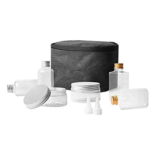 DSFSAEG Tarro condimento botella Set camping al aire libre con bolsa de almacenamiento de cocina transparente (transparente)